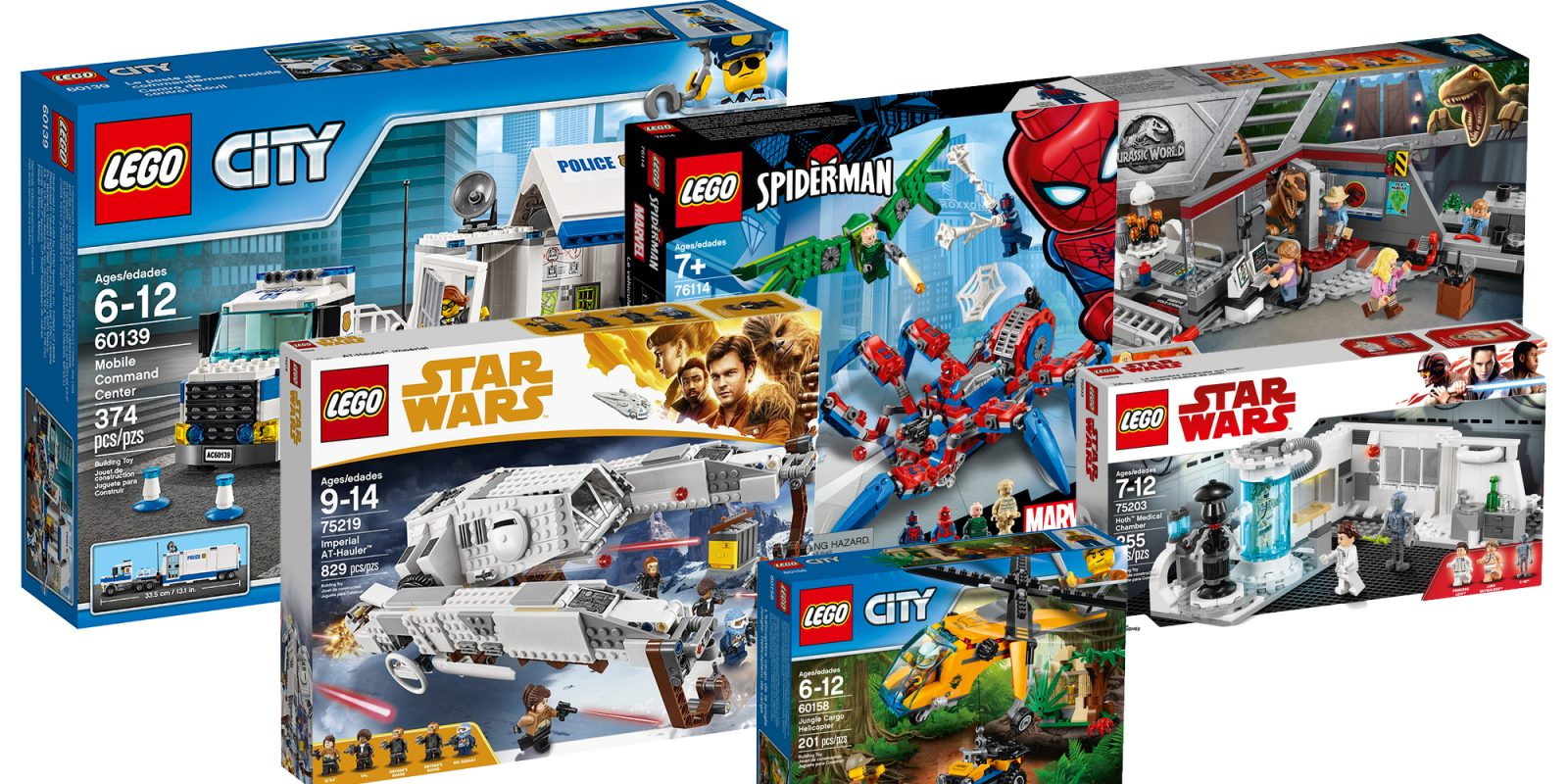 Save Up To 35 On Lego Star Wars City Jurassic World Marvel Super