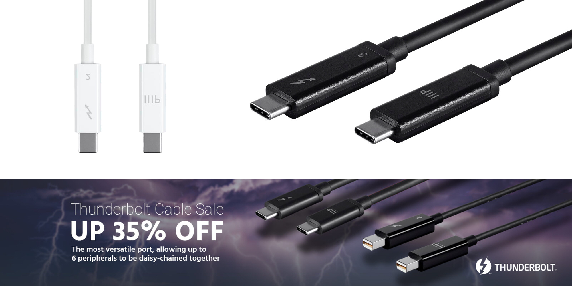 Save up to 35% on Thunderbolt 3 cables and more at Monoprice with deals from $14