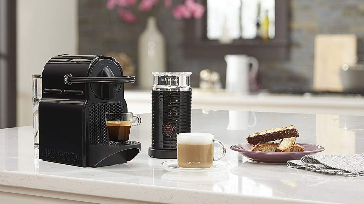The highly-rated Nespresso Inissia Espresso Machine is half-off today only, now $100