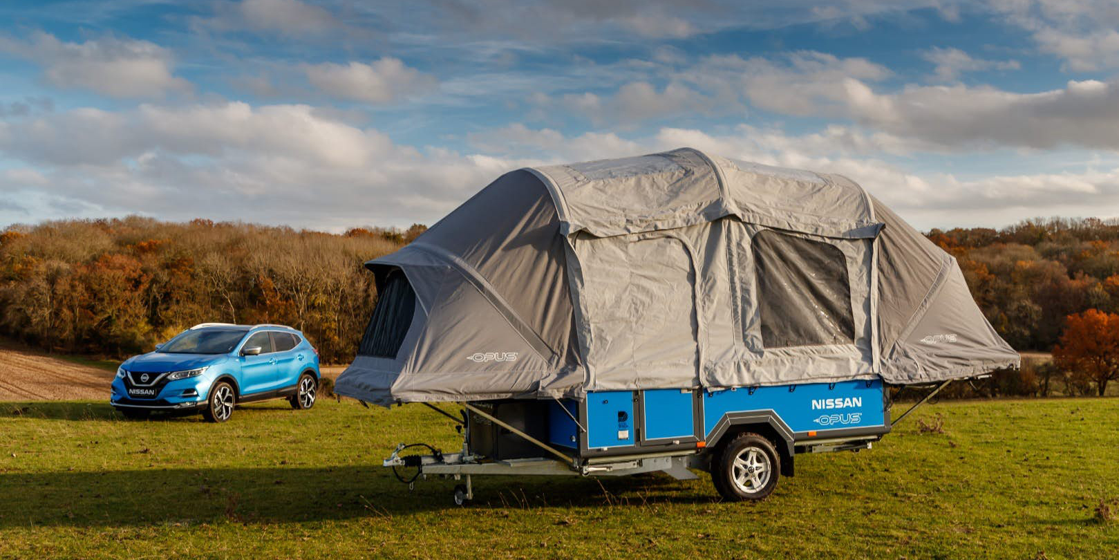 Nissan recycles old Leaf batteries for an upcoming Opus camping trailer