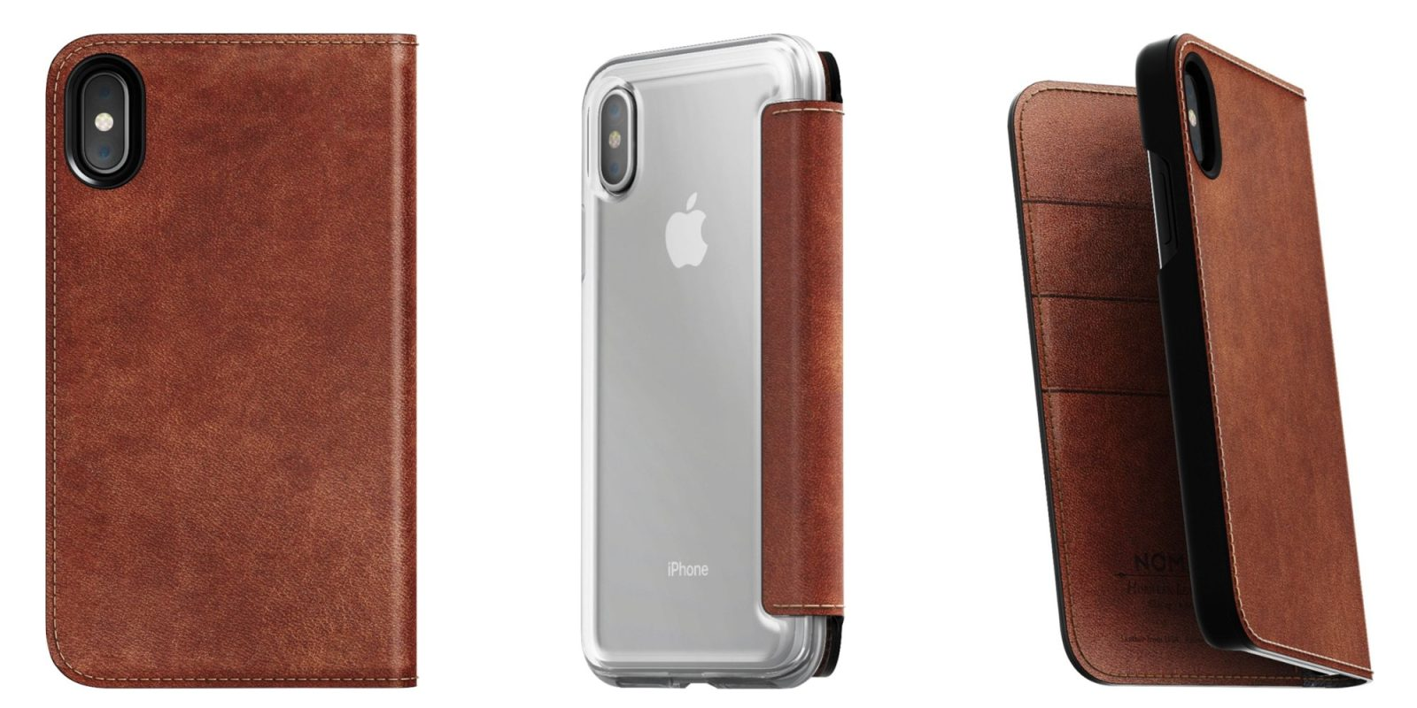 Smartphone Accessories: Nomad Genuine Leather Folio iPhone X/S Wallet Cases $20, more