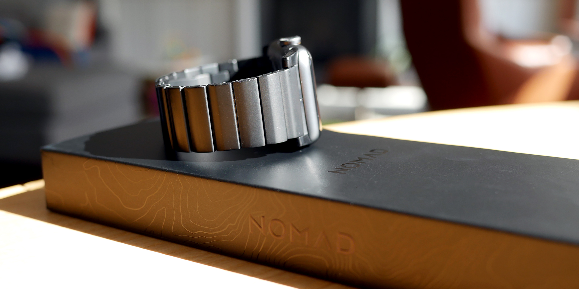 Nomad Titanium Apple Watch Band with box