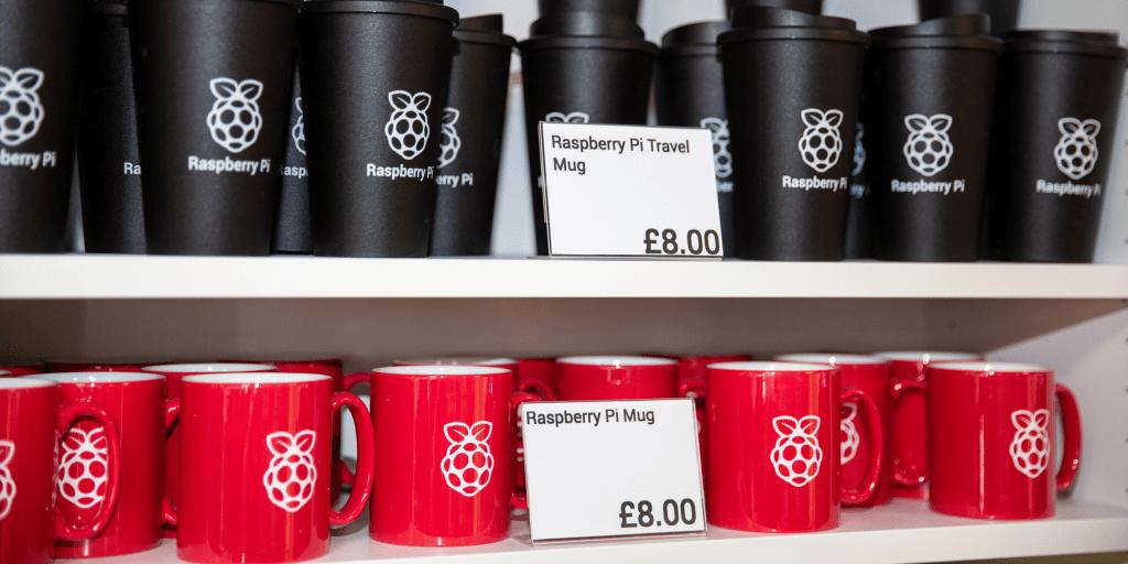 Raspberry Pi Store souvenir mugs