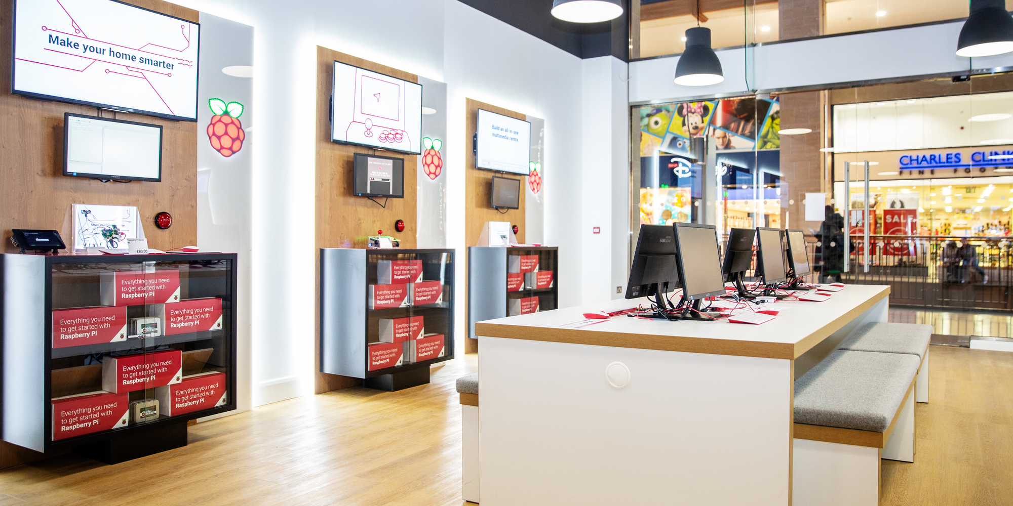Raspberry Pi Store interior Cambridge UK