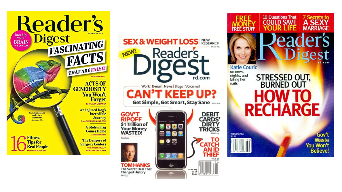 Amazon discounts Reader's Digest and many more print magazines to as low as $4 today only