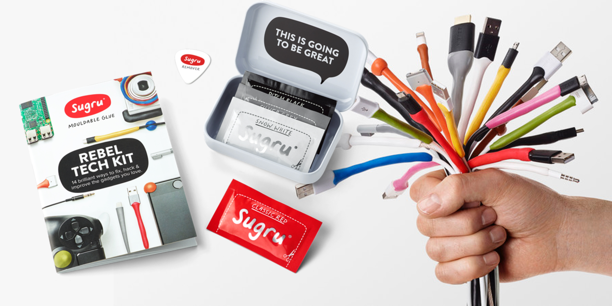 Repair frayed cables and more with Sugru's $10 Prime shipped Moldable Glue Tech Kit (30% off)