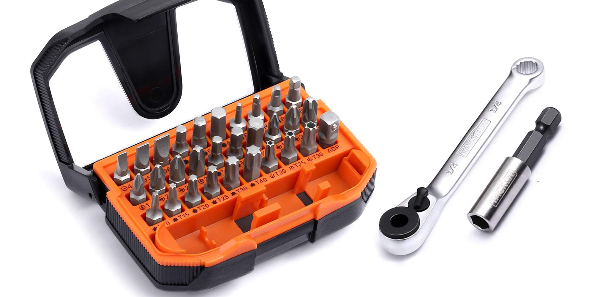 This 32-piece screwdriver kit is a must-have addition to any toolbox at $8 Prime shipped