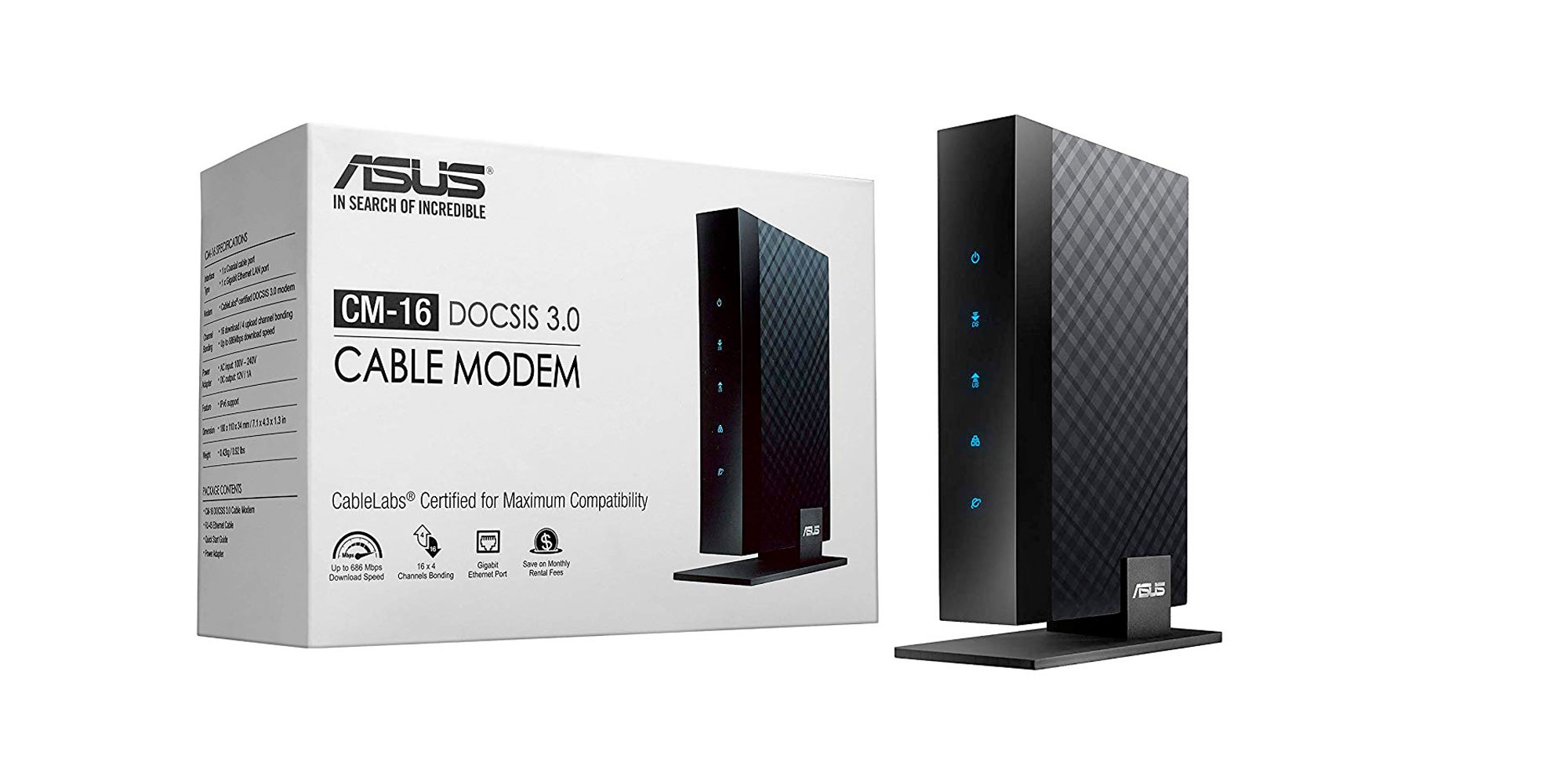 Save up to $120/year by buying your own DOCSIS 3.0 modem at $50 shipped (Reg. up to $80)