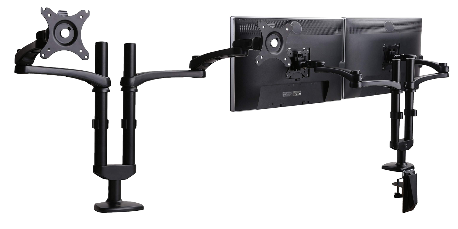 Elevate two displays to eye level w/ the $65 AmazonBasics Dual Monitor Stand (Reg. $120)