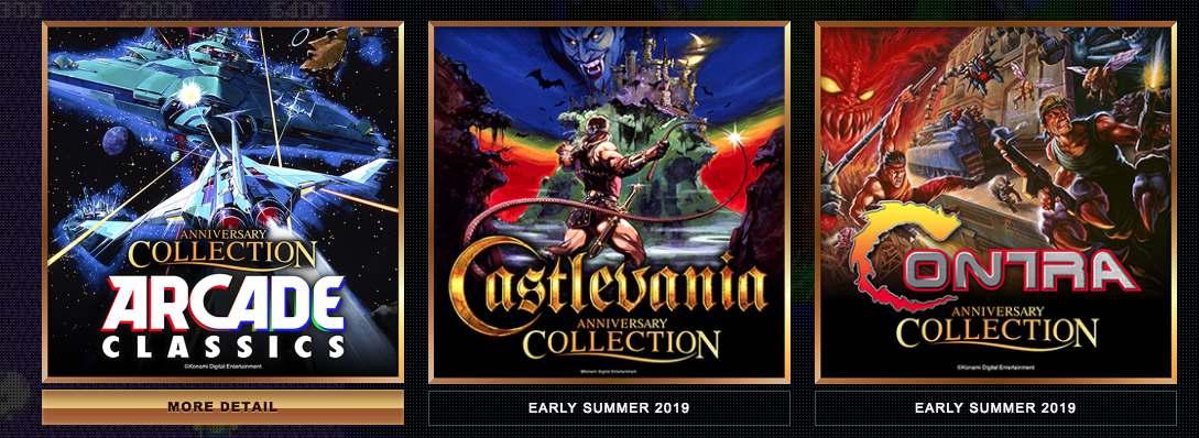 Classic Konami Game Collections coming soon