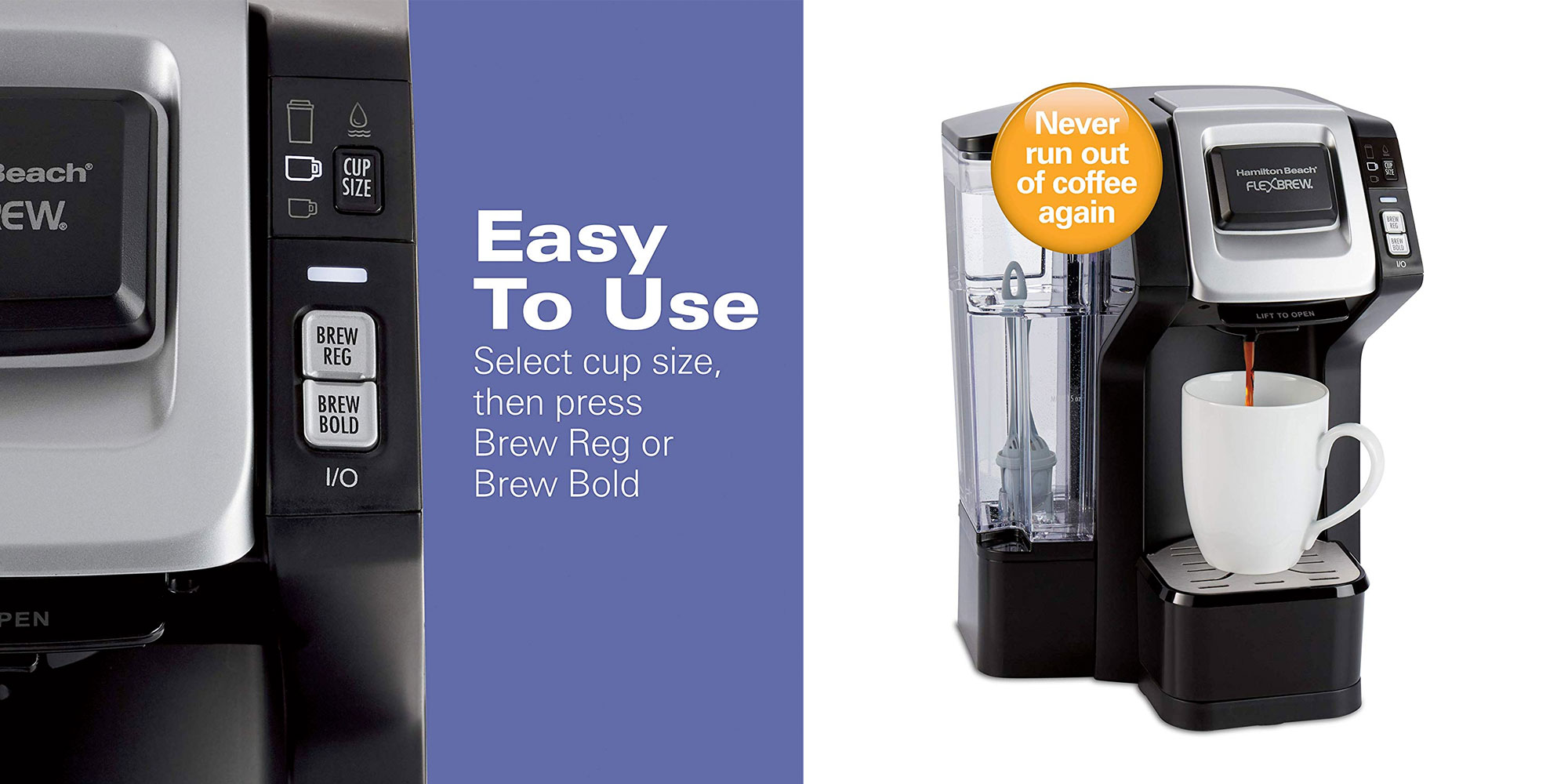 Enjoy K-Cups or your grounds w/ Hamilton Beach's FlexBrew connected brewer: $50 (Reg. $90)