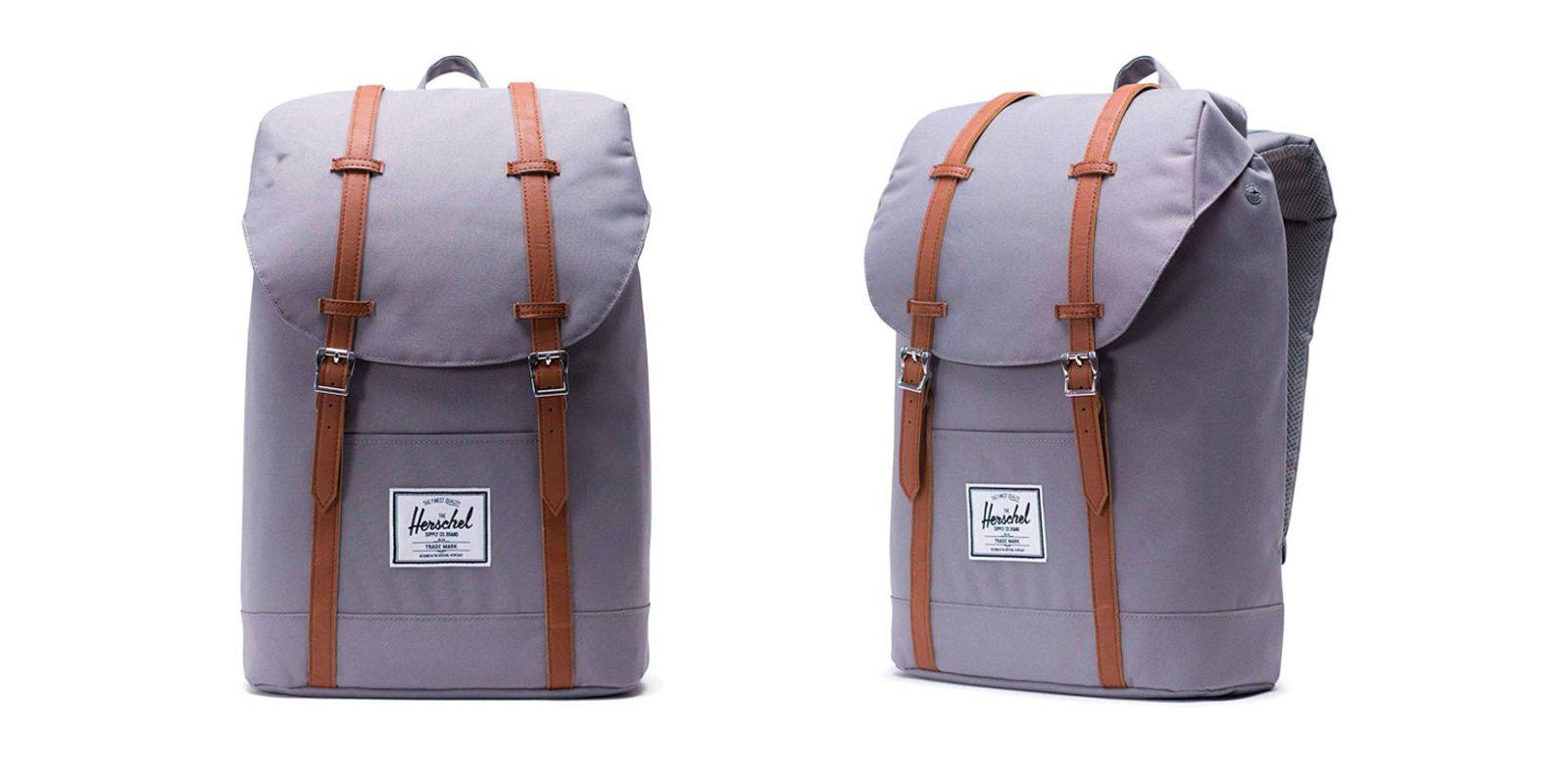 Herschel Retreat Backpack easily fits your 15-inch MacBook