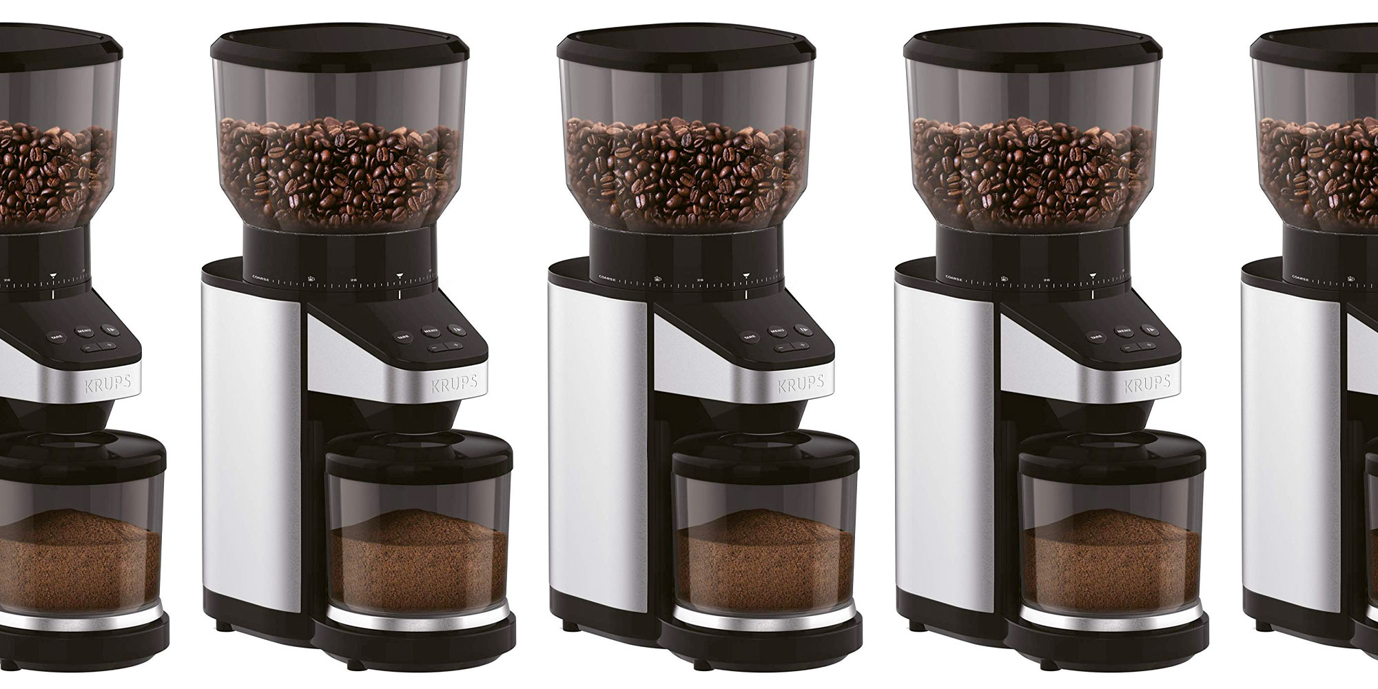 Enjoy fresh ground coffee w/ KRUPS' burr auto grinder w/ scale: $95 (Reg. $150)