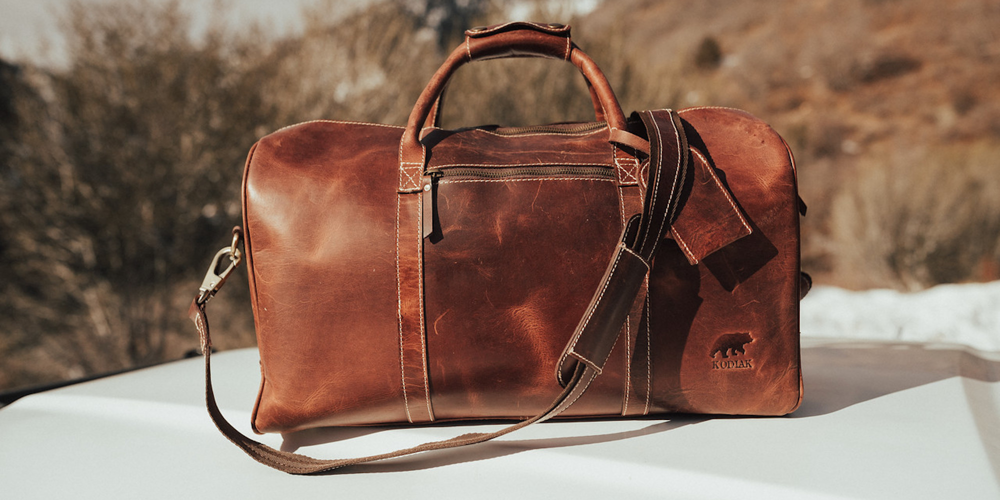 Travel in style with the Kodiak Leather Duffle Bag starting at $127