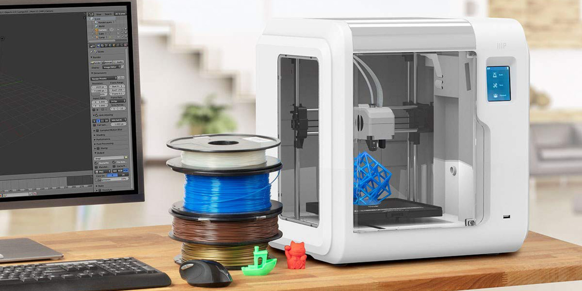 Build your own gadgets w/ a Monoprice Voxel 3D Printer for $272 shipped (save $50+)