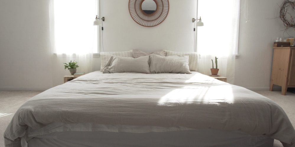 Nectar mattress with bedding