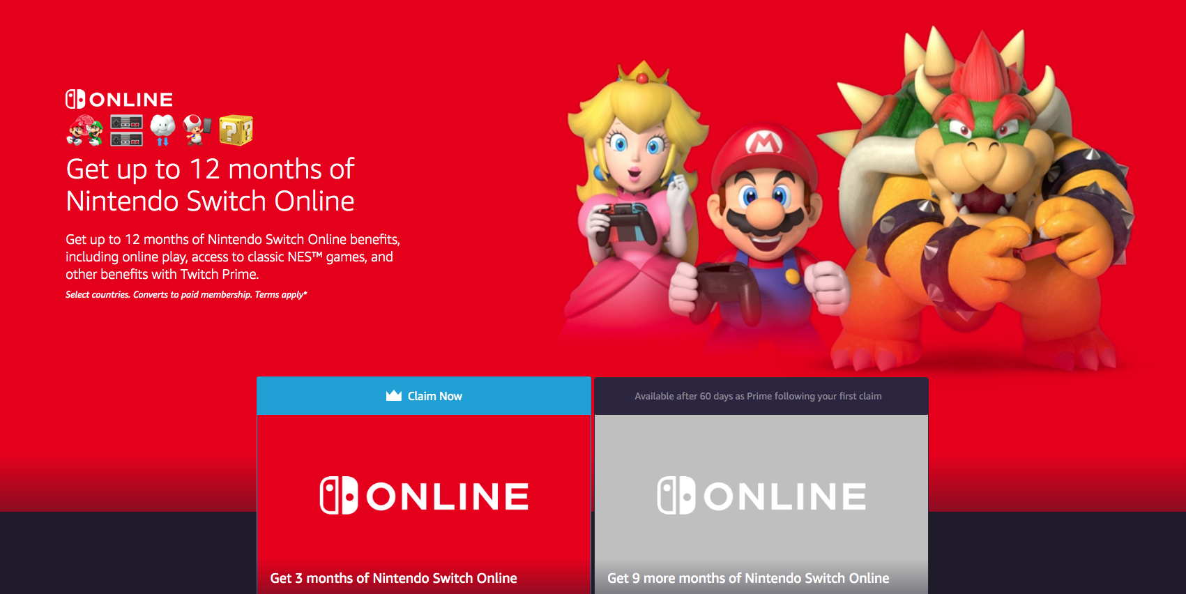 How To Get A Year Of Free Nintendo Switch Online Access Via Amazon Prime 9to5toys