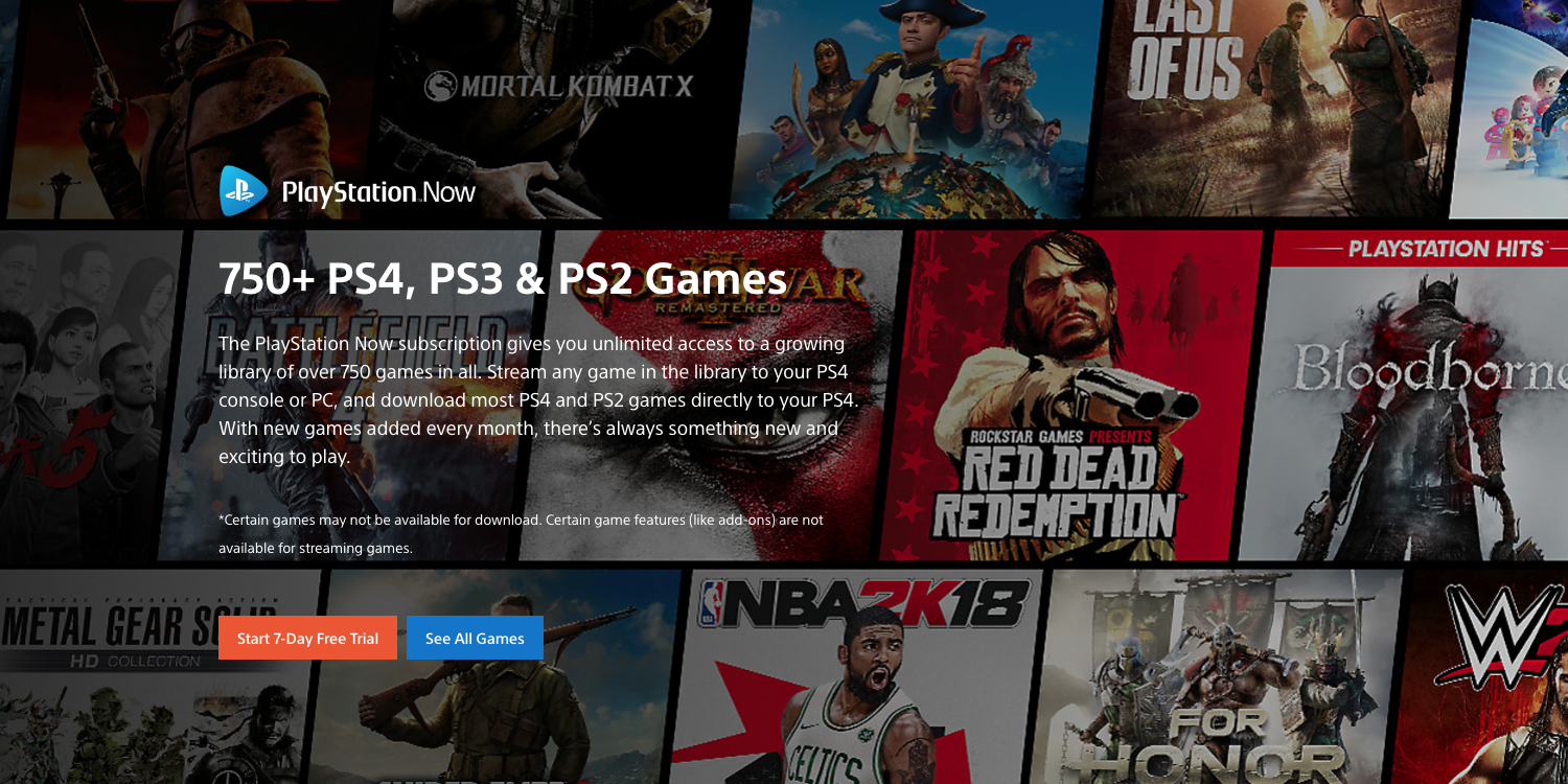 Access over 750 on-demand PlayStation games w/ this rare PS Now deal