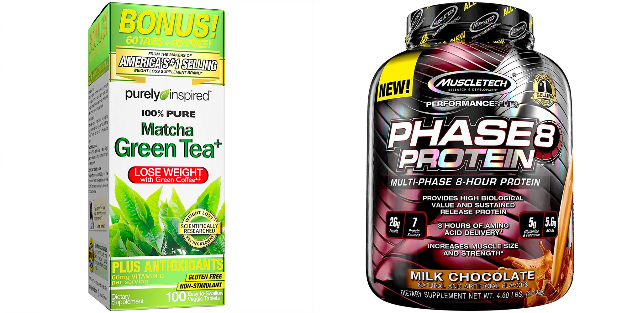 MuscleTech or Purely Inspired supplements help you stay fit from $6.50 in today's Gold Box