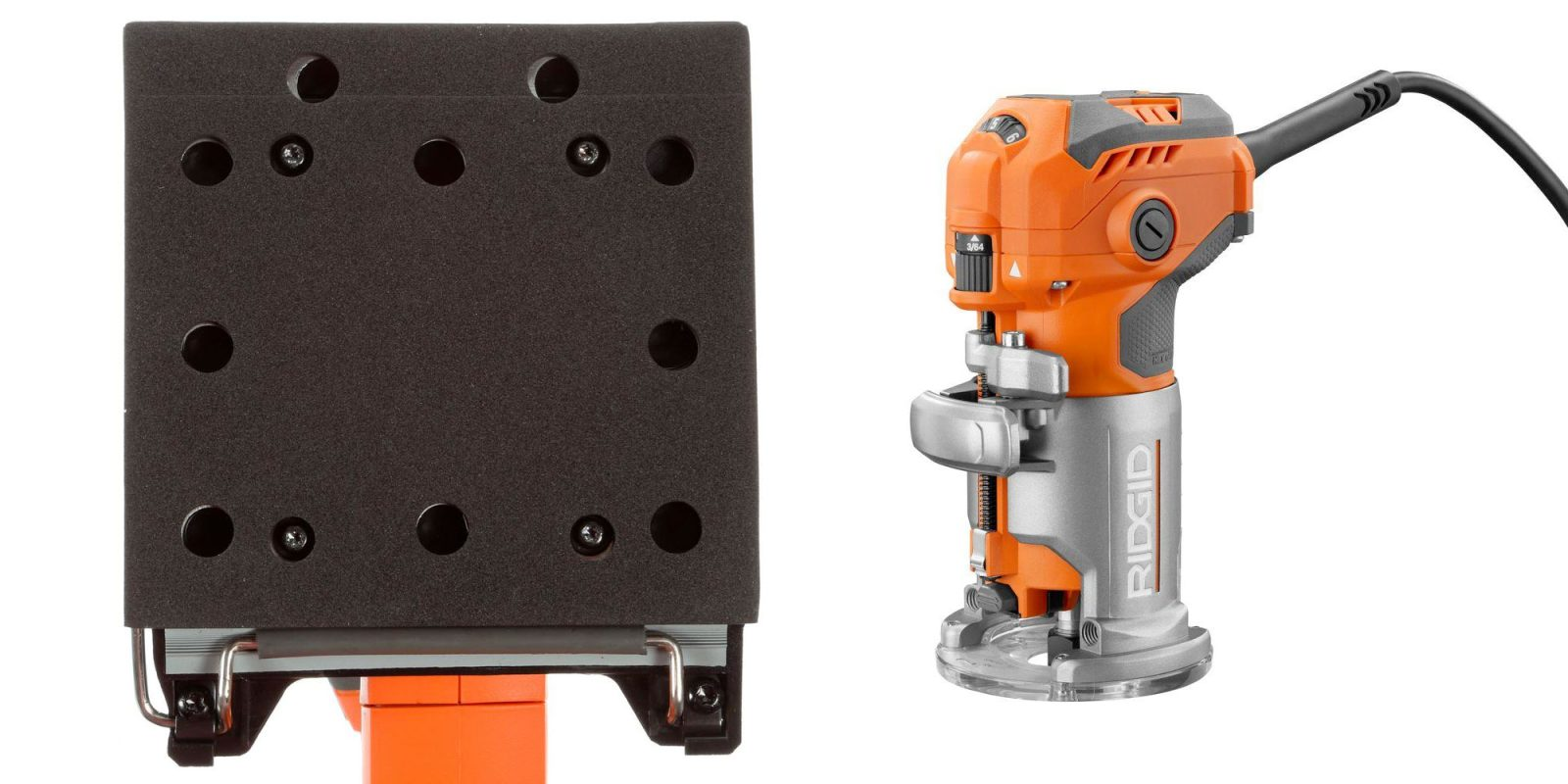 Be ready for weekend projects w/ RIDGID's corded trim router & sander at $99 ($150+ value)