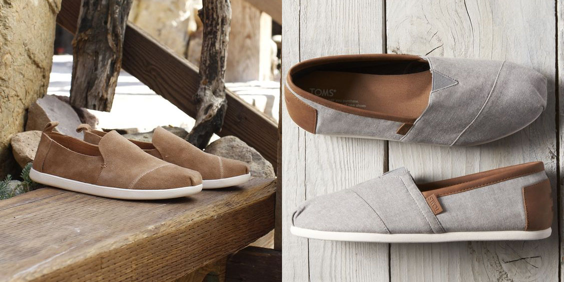 Today only, TOMS is offering 25% off sitewide with sneakers, boots, sandals & more from $36