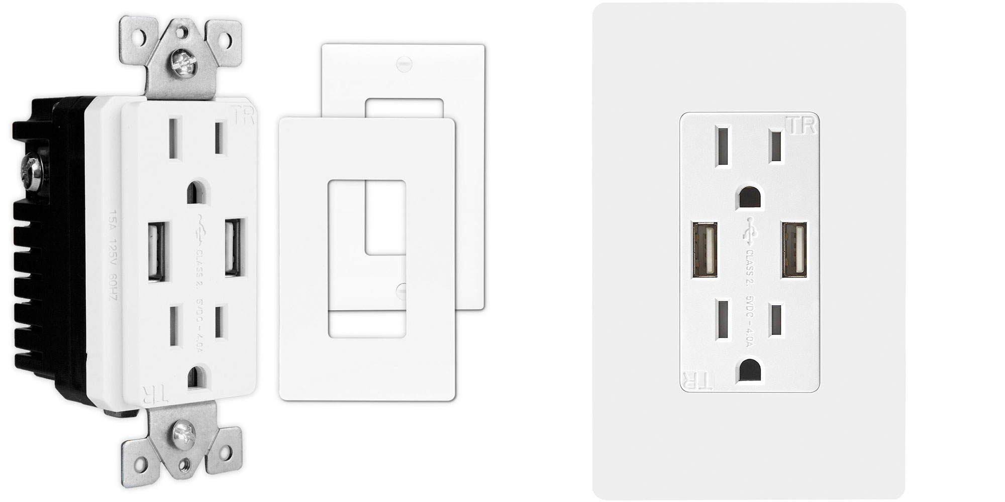 Replace your outlets w/ these & get two 2.4A USB charging ports for $13 Prime shipped
