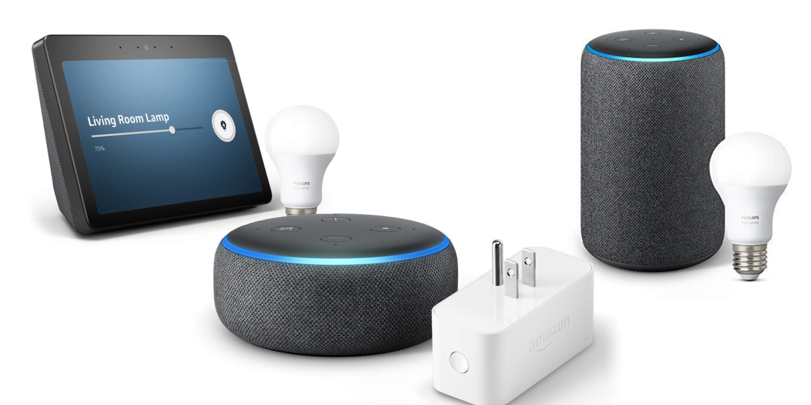 Kick start your Alexa-enabled home and pair select Echo speakers w/ smart home devices from $40