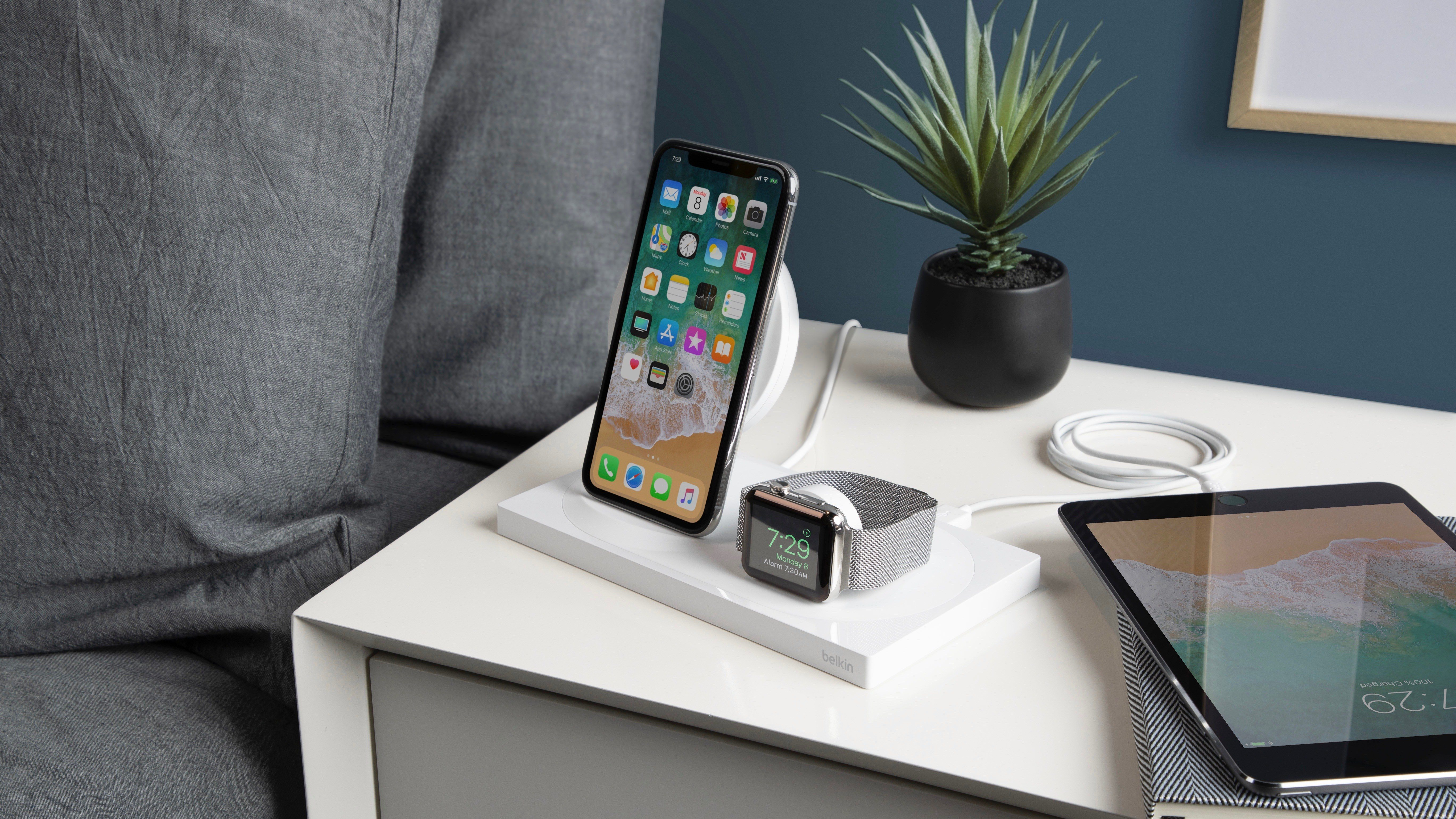 Save 25% on Belkin Wireless Chargers: Boost Up iPhone + Apple Watch Dock $105, more from $45