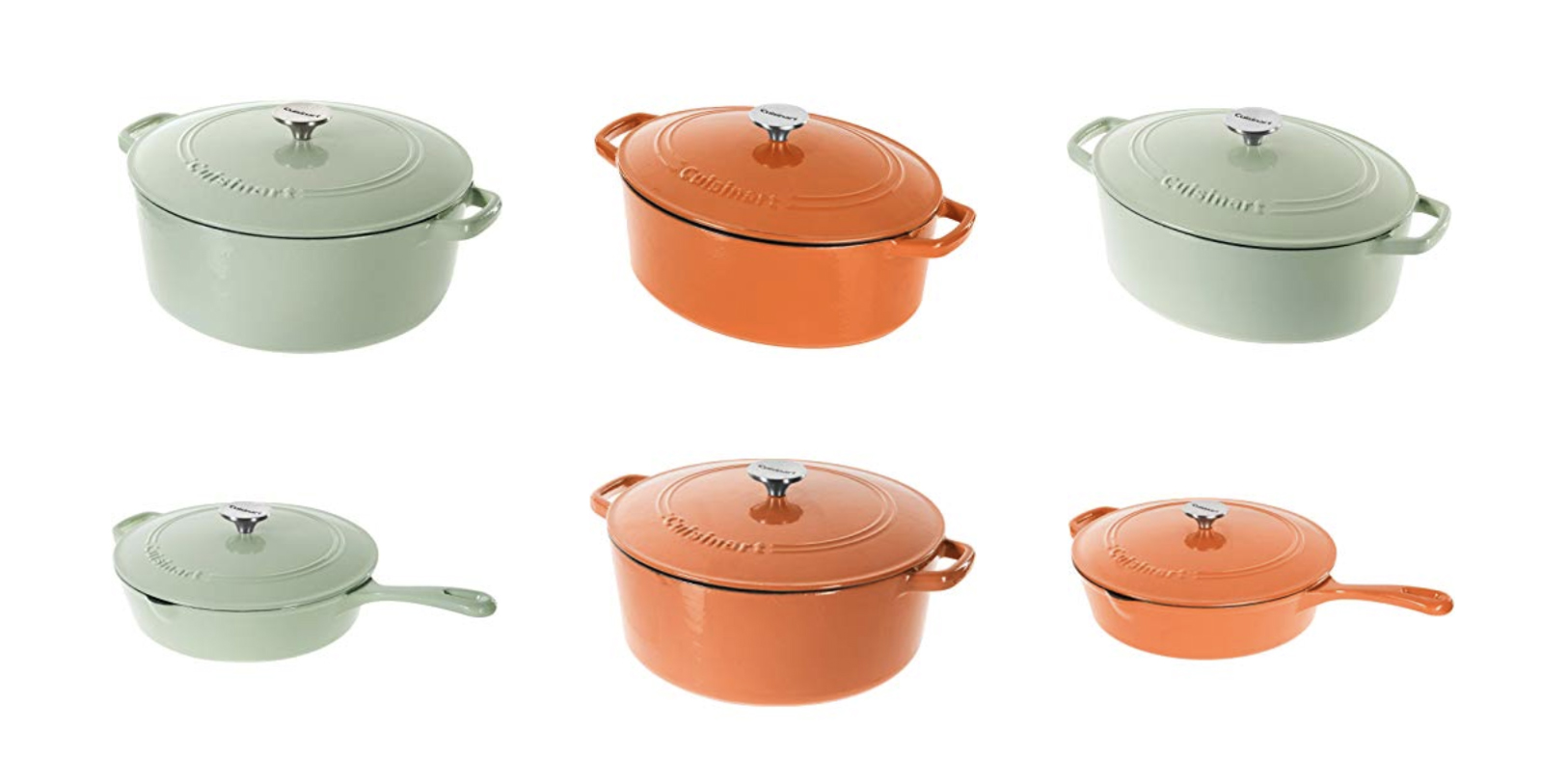 Today only, Amazon's Gold Box has Cuisinart cast iron cookware from $55