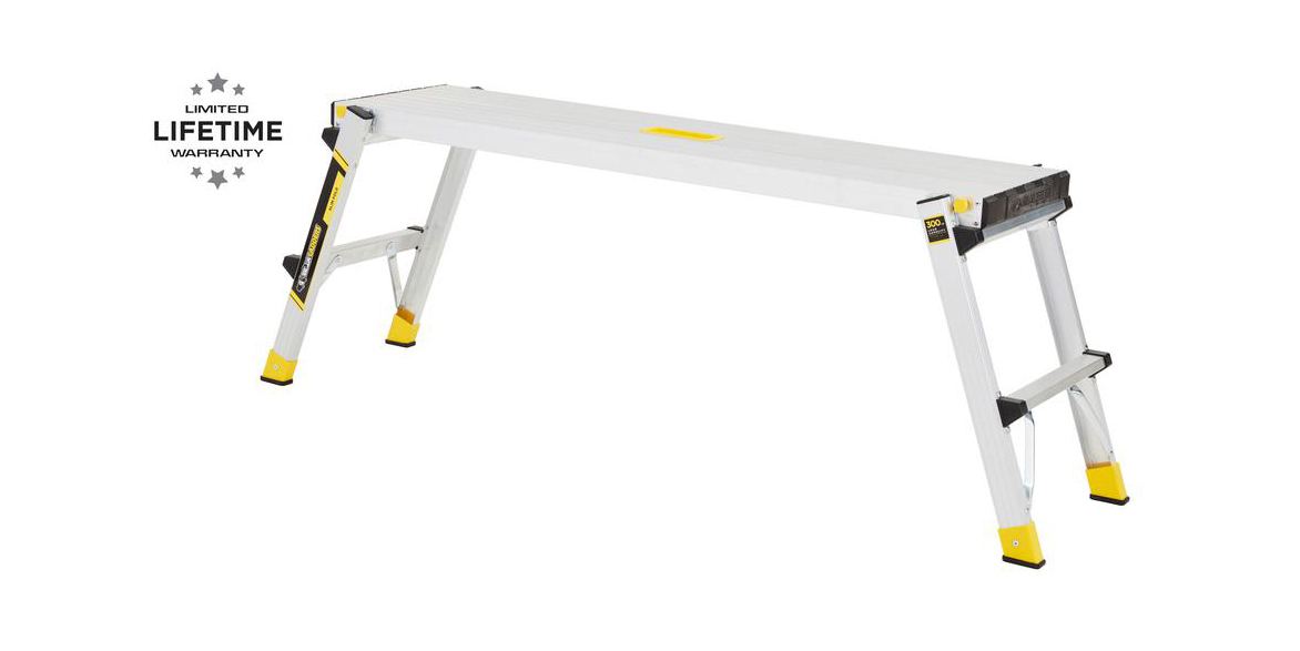 Get ready for DIY projects with a Gorilla Ladders 47-inch Aluminum Work Platform for $30