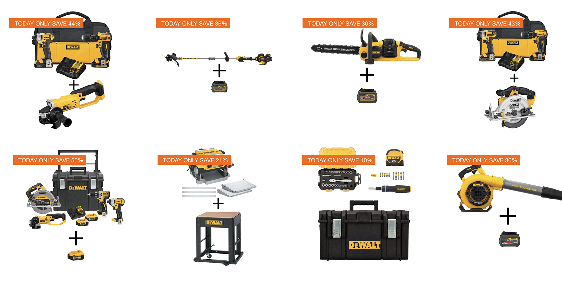 Home Depot 1-day DEWALT power tool sale has deals from $34