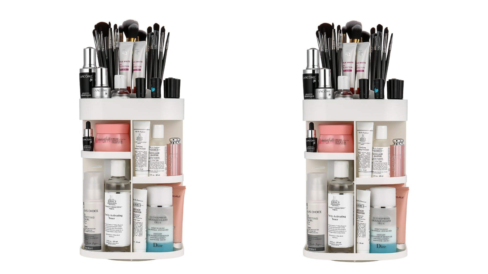 Have access to all of your cosmetics w/ this adjustable rotating organizer for $15 ($10 off)