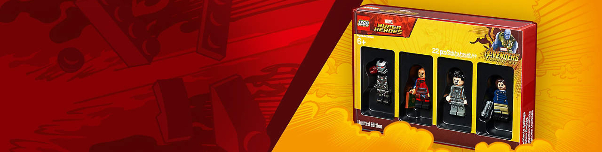 LEGO Avengers Minifigure Pack Promotional Banner