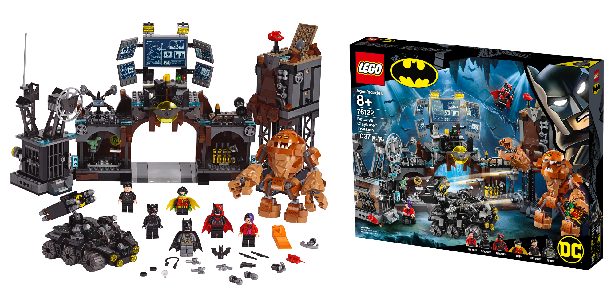 LEGO Batman 80th Anniversary Batcave Clayface Invasion