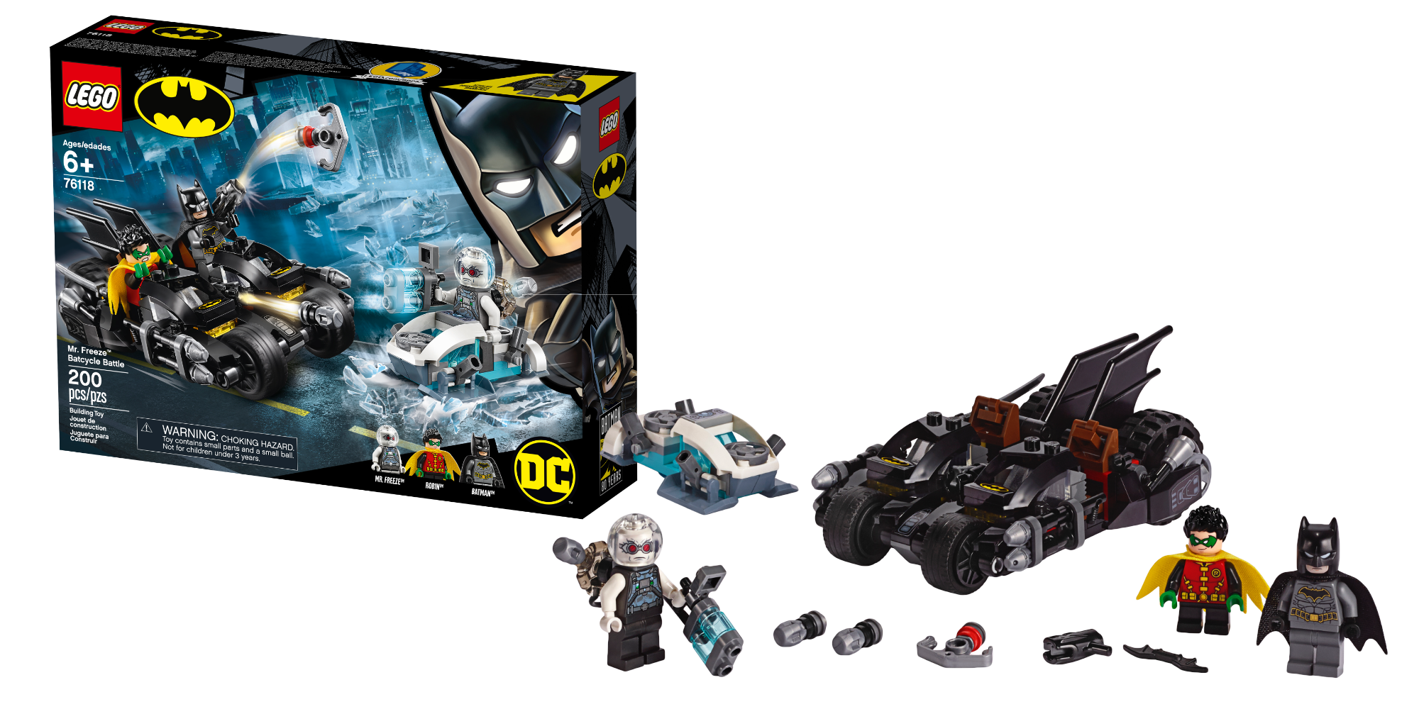 Mr. Freeze Batcycle Battle