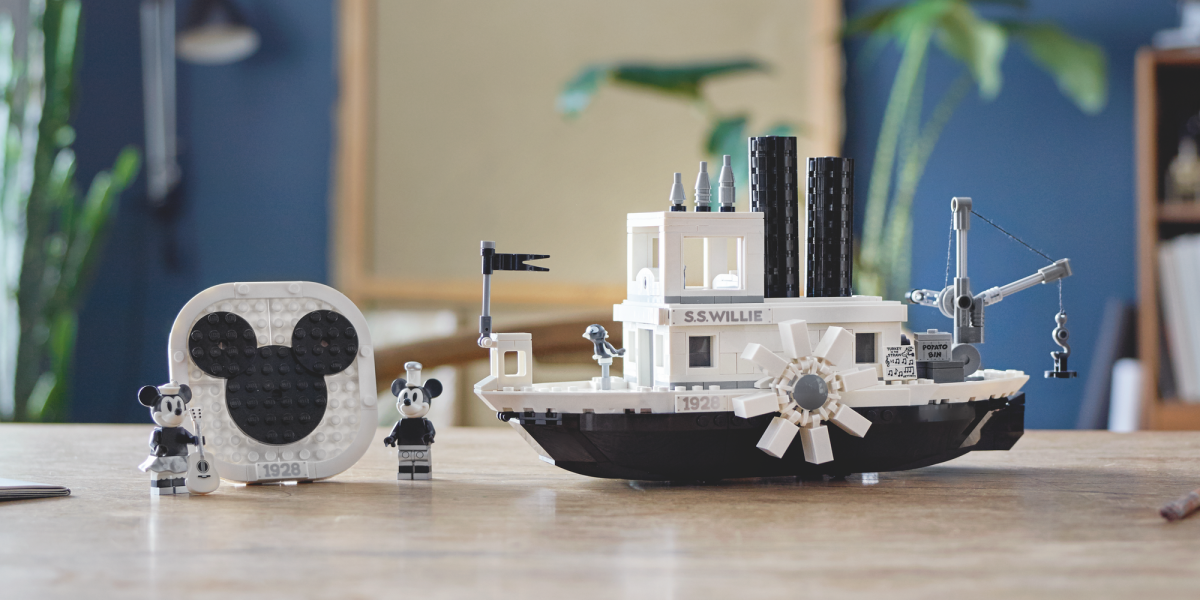 LEGO Steamboat Willie lifestyle