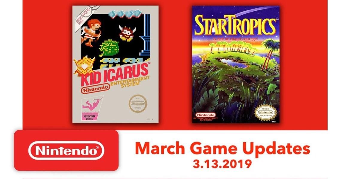 Nintendo Switch Online March