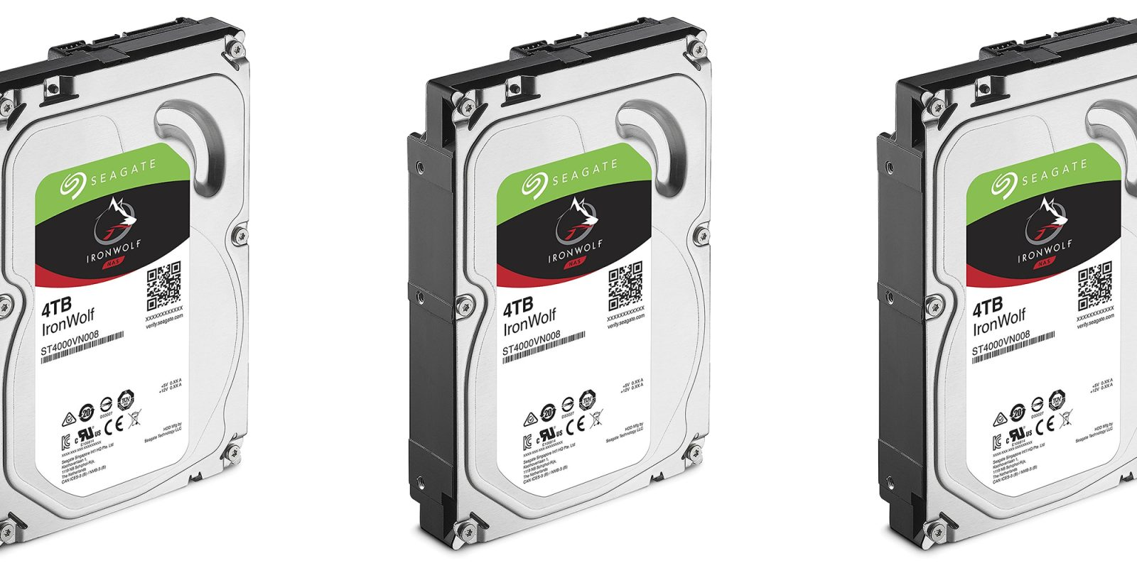 Add two 4TB Seagate IronWolf Hard Drives to your NAS or media server for $200 shipped (Save $40)