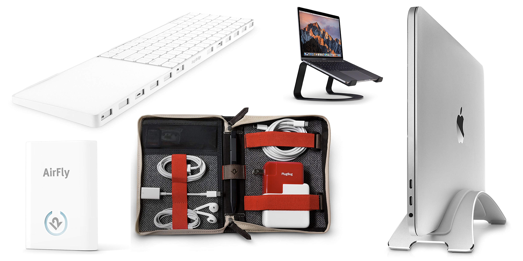 Save on popular Twelve South gear: BookBook CaddySack, AirFly, Curve MacBook stand, more