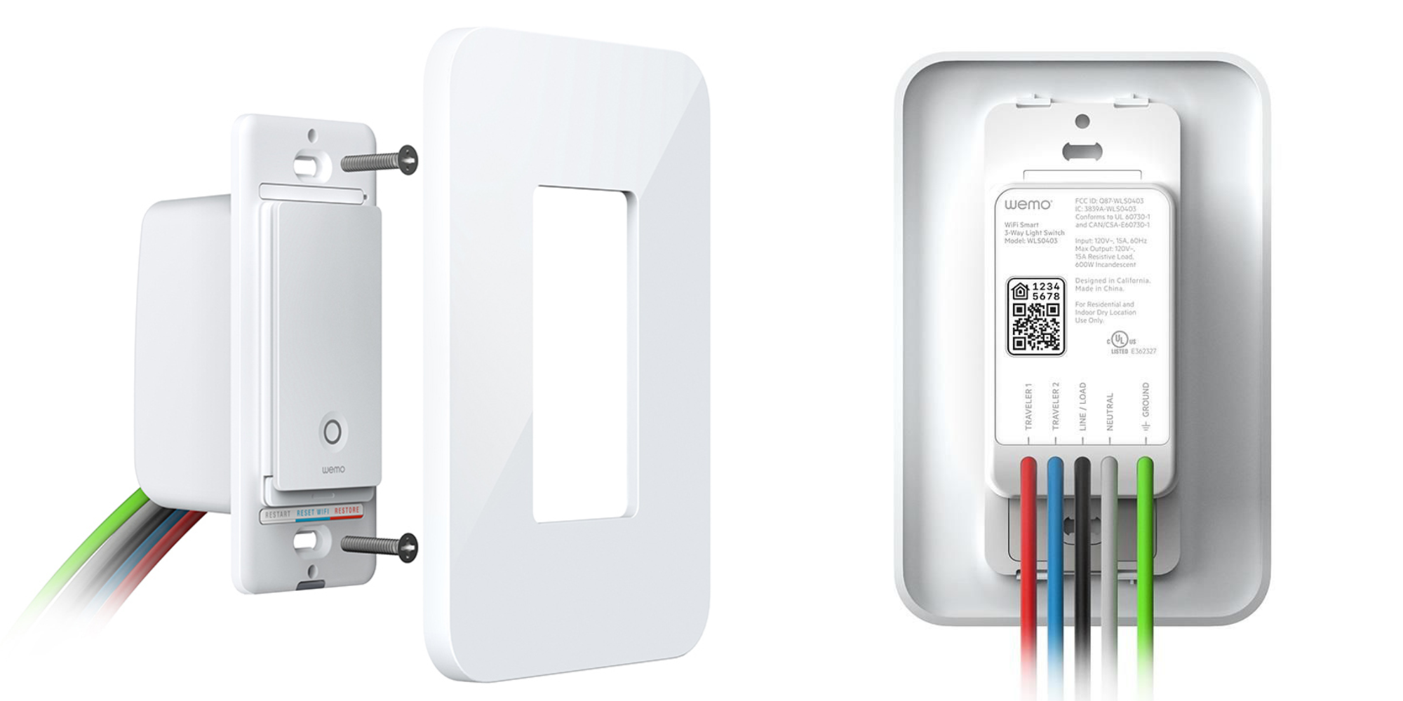 Wemo 3-Way Wall Plate