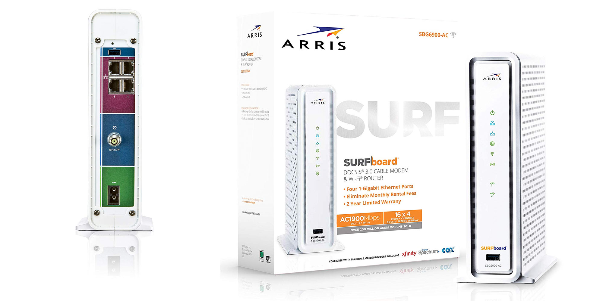 Take 25% off this ARRIS DOCSIS 3.0 modem + 802.11ac router: $121 (up to $120/yr in savings)