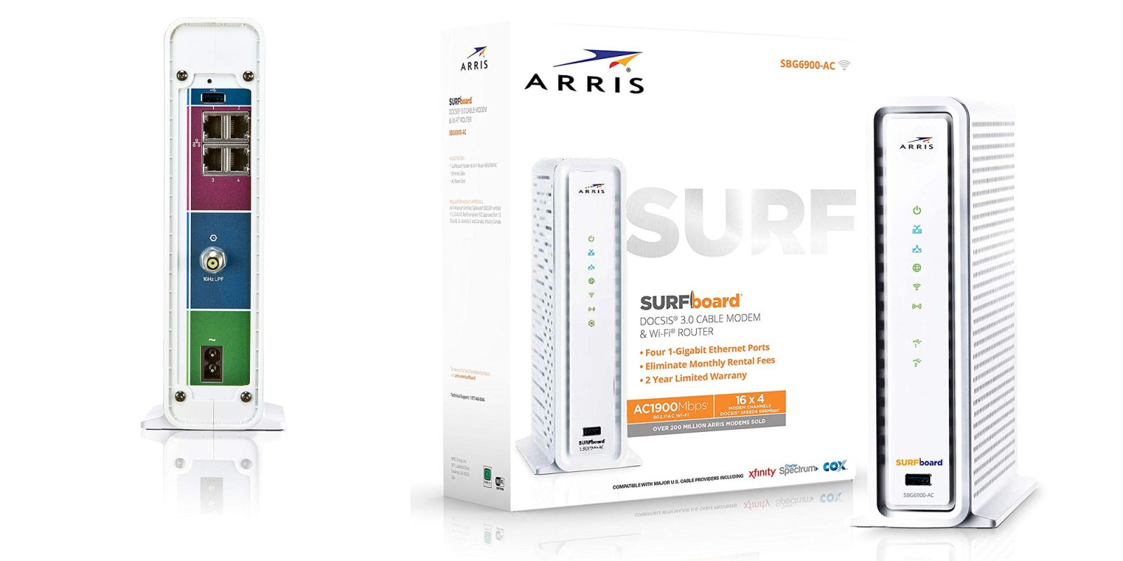 Save up to $120/year w/ a DOCSIS 3.0 modem & 802.11ac router: $92 (Reg. $160)