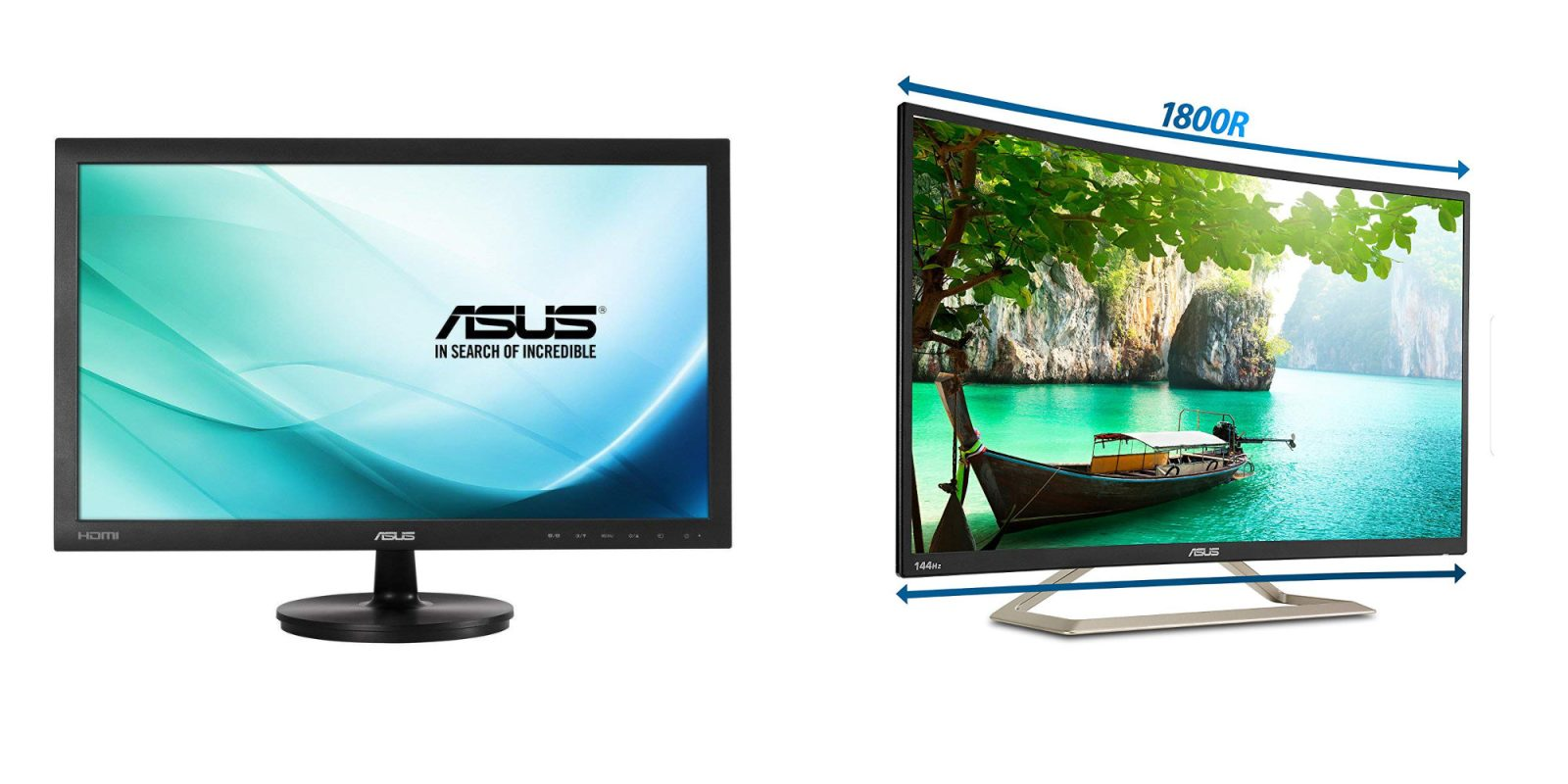 ASUS' 23.6-inch Full HD Monitor is down to $110 shipped (2019 low), 31.5-inch Curved: $260