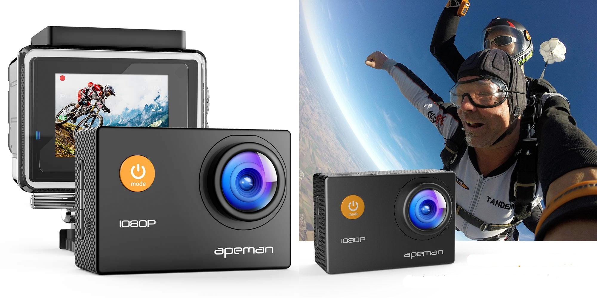 Take this waterproof 1080p action camera on your summer adventures for $30 shipped