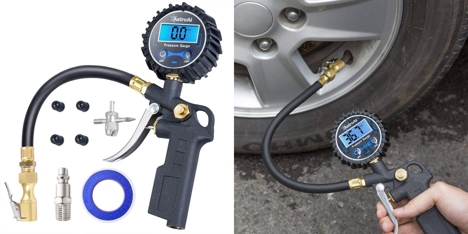 AstroAI's digital tire inflator + gauge is now $14 Prime shipped (Reg. $20)