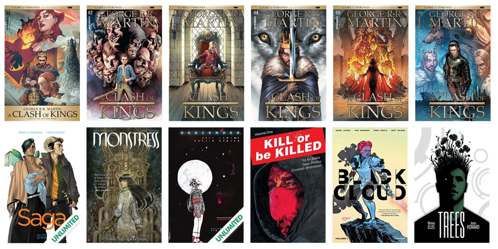 Save up to 67% on Game of Thrones and Image digital comics from $1 at ComiXology