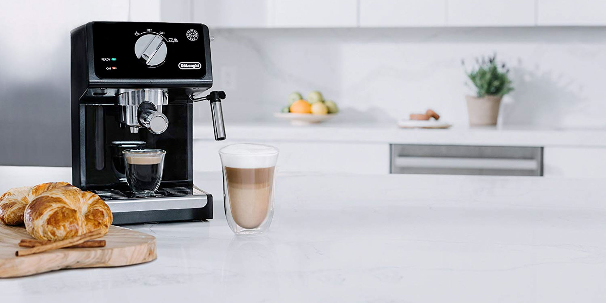Enjoy espresso at home w/ De'Longhi's 15-bar machine & cappuccino system: $63 (Reg. $120)