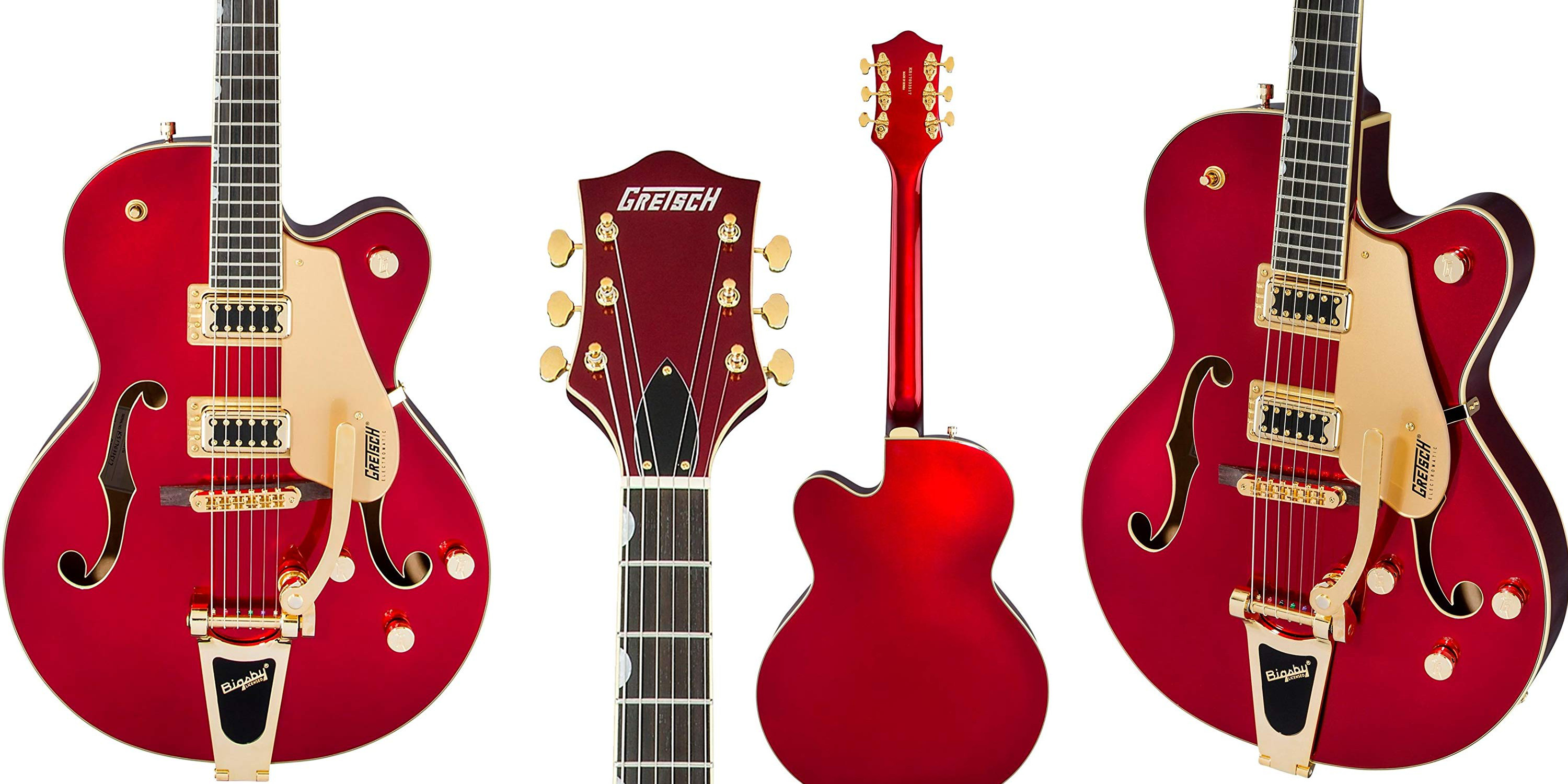 The Gretsch G5420TG Electric Guitar in Candy Apple Red is now $250 off the going rate
