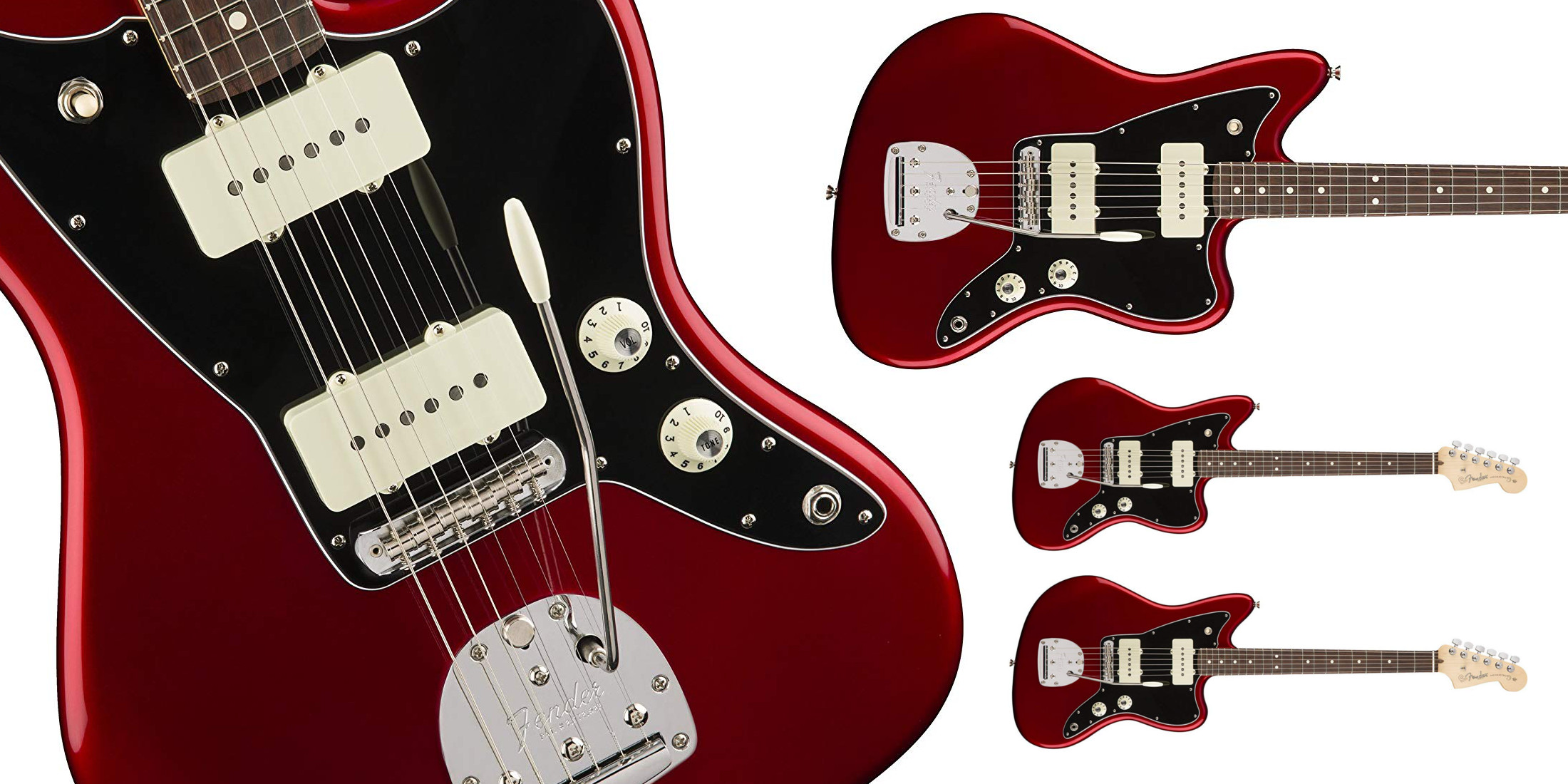 Fender's American Pro Jazzmaster Electric Guitar w/ brass Mustang saddles is $600 off