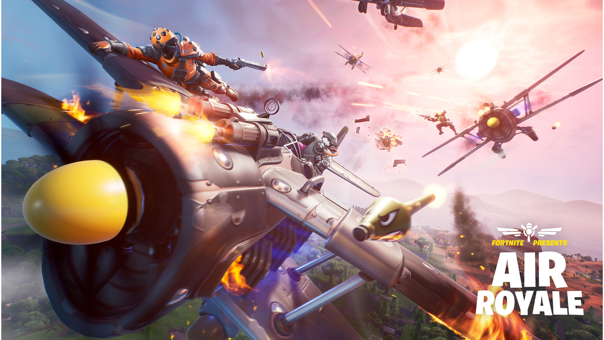 Protect the skies & more in Fortnite's latest update w/ Air Royale, food fighting, & new pet interactions